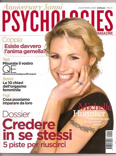 Michelle Hunziker - Psychologies Magazine Cover [Italy] (November 2009)
