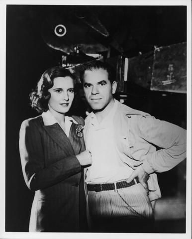 Frank Capra  and Barbara Stanwyck on set of Golden Boy. (1939)
