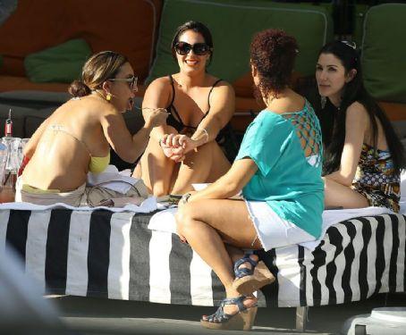 Pam Rodriguez  Wearing Bikini Top
