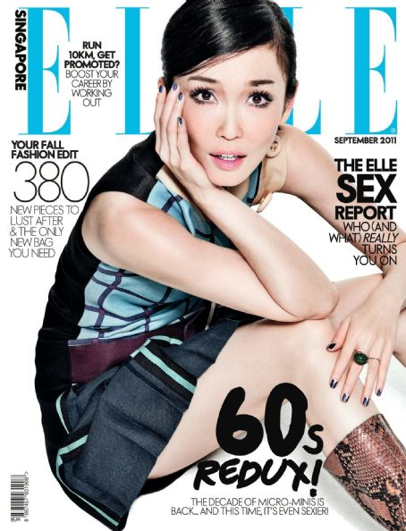 Fann Wong - Elle Magazine Cover [Singapore] (September 2011)