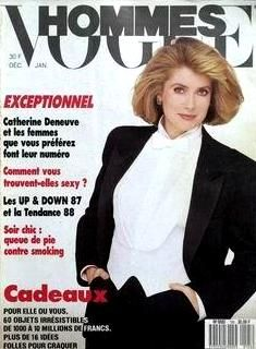 Catherine Deneuve - Vogue Hommes Magazine [France] (December 1987)