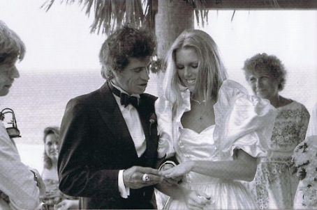 Keith Richards - Keith & Patti wedding day