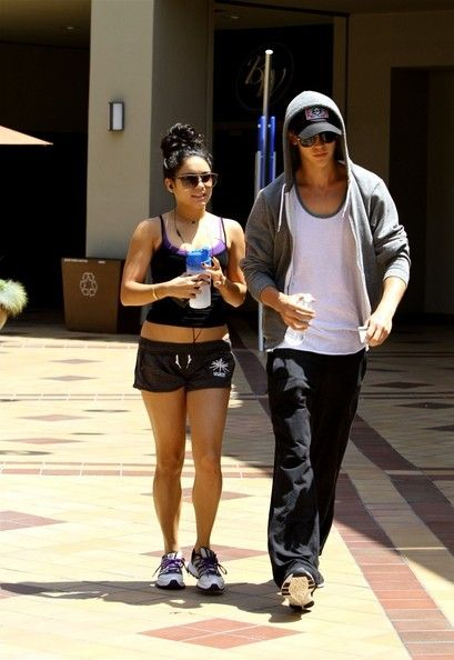 Vanessa Hudgens and Austin Butler hits the Crunch gym in Hollywood. May 18, 2012