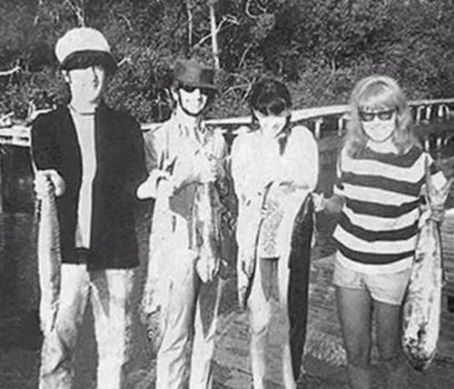 Cynthia Lennon - Ringo Starr and Maureen Starkey with John Lennon and Cynthia Powell