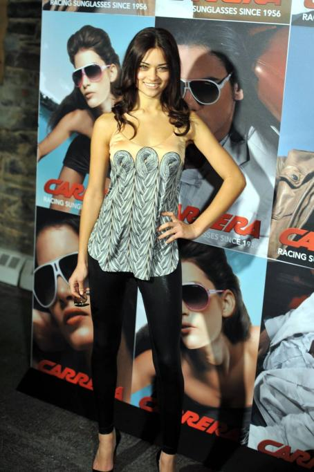 Shanina Shaik  - The Launch Of Carrera Vintage Sunglasses - Angel Orensanz Foundation In New York City 2009-03-13