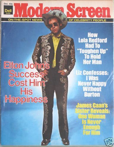 Elton John - Modern Screen Magazine [United States] (December 1975)
