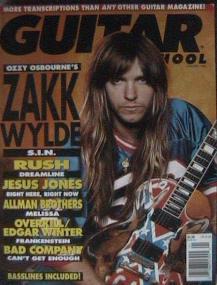 Zakk Wylde - Guitar School Magazine Cover [United States] (January 1992)