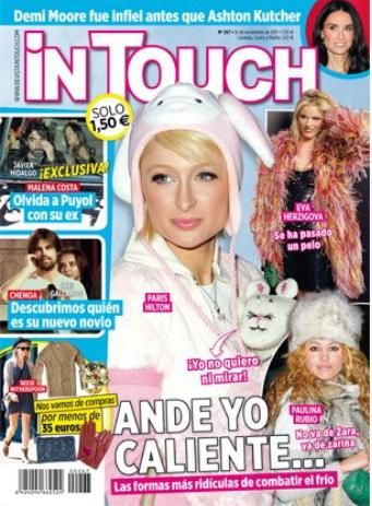 Paulina Rubio, Paris Hilton, Eva Herzigova - In Touch Magazine Cover [Spain] (8 November 2011)