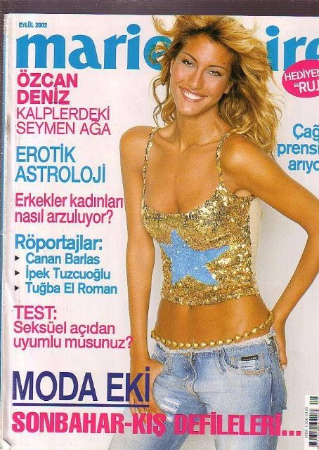 Azra Akin - Marie Claire Magazine [Turkey] (September 2002)
