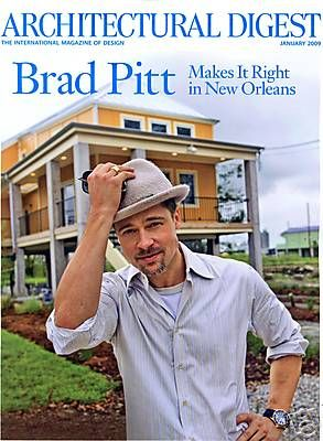 Brad Pitt - Architectural Digest Magazine [United States] (January 2009)