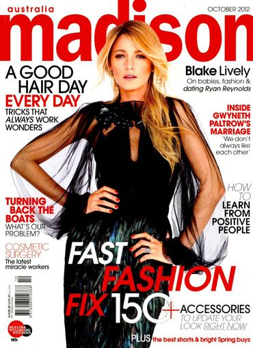 Blake Lively - Madison Magazine Cover [Australia] (October 2012)