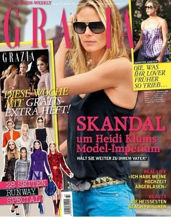 Heidi Klum - Grazia Magazine Cover [Germany] (11 August 2011)