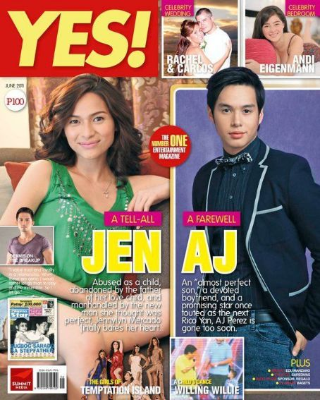 Jennylyn Mercado, AJ Perez - Yes! Magazine Cover [Philippines] (June 2011)