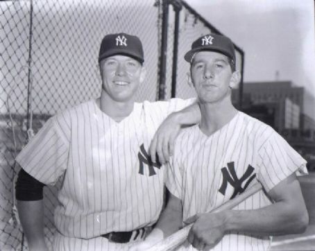 Mickey Mantle Mickey with Billy Martin