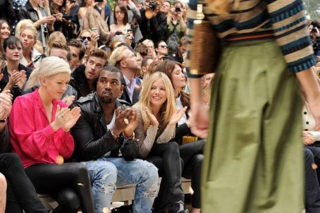 Ellie Goulding - Burberry Spring Summer 2012 Womenswear Show - Front Row And Backstage