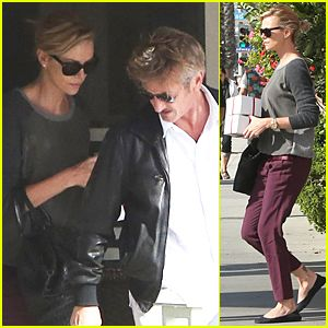 Charlize Theron & Sean Penn Have Low-Key Lunch Date at the Ivy