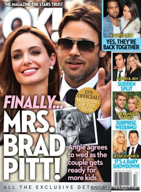 Brad Pitt - OK! Magazine Cover [United States] (26 March 2012)