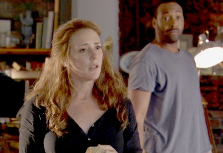 Talia Balsam  as Violet and Jesse L. Martin as Judd in 7-57 Releasing 'The Cake Eaters.'
