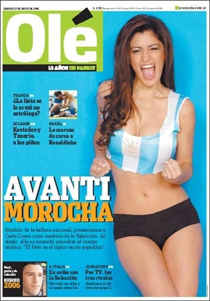 Carla Conte - Ol� Magazine Cover [Argentina] (27 April 2006)