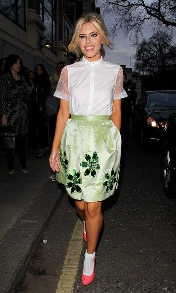 Mollie King: at Moschino Cheap And Chic-LFW in London