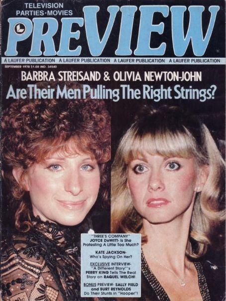 Barbra Streisand, Olivia Newton-John - Preview Magazine Cover [United States] (September 1978)