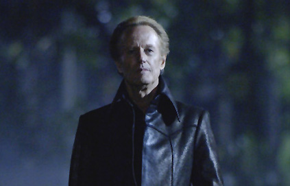 Peter Fonda Mephistopheles () seals the fate of Johnny Blaze in Ghost Rider - 2007