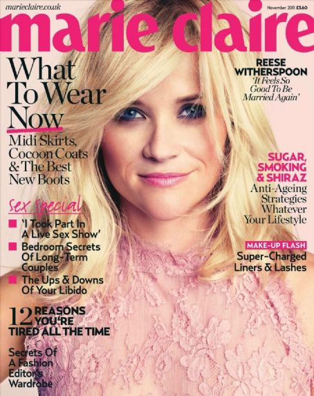 Reese Witherspoon - Marie Claire Magazine Cover [United Kingdom] (November 2011)