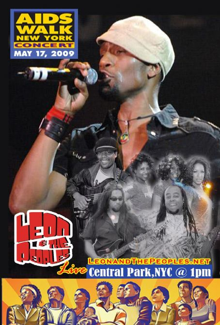 Leon  & The Peoples Aids Walk NYC '09 Concert Poster