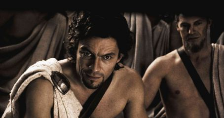 "Dominic West DOMINIC WEST portrays Theron, a Spartan politician with a hidden agenda in Warner Bros. Pictures', Legendary Pictures' and Virtual Studios' action drama ""300,"" distributed by Warner Bros. Pictures. Photo courtesy of Warner Br"