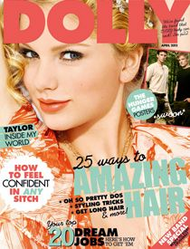 Josh Hutcherson, Liam Hemsworth, Taylor Swift - Dolly Magazine Cover [Australia] (April 2012)