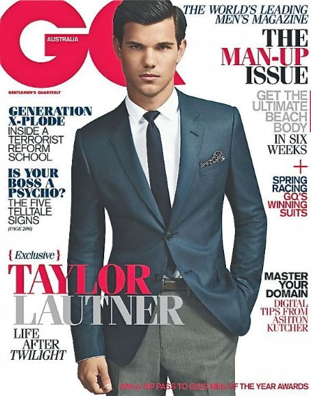 Taylor Lautner - GQ Magazine Cover [Australia] (October 2011)