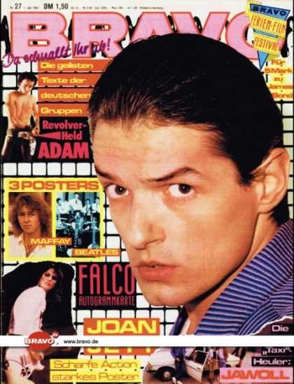 Falco, Bravo 01 July 1982. Falco, Bravo Magazine [Germany] (1 July 1982)