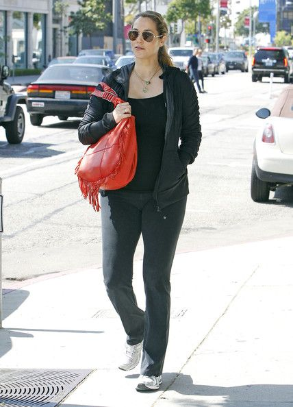Elizabeth Berkley out for lunch at Le Pain Quotidien in West Hollywood, California on March 13, 2012
