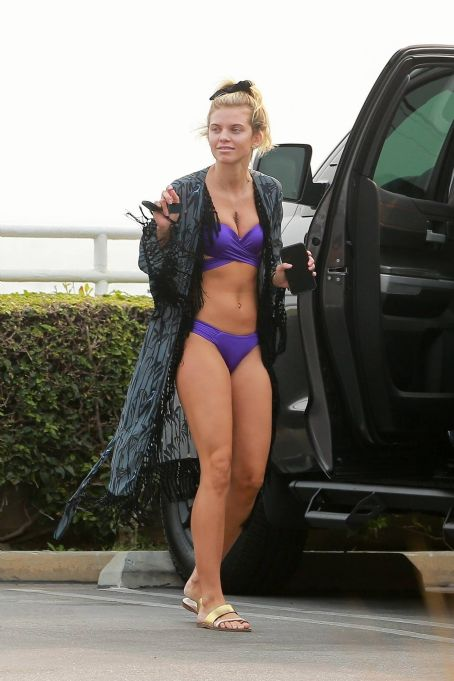 AnnaLynne McCord – Bikini candids on the beach in Huntington Beach