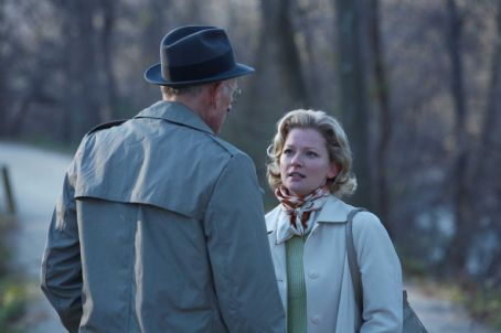 James Rebhorn  as Lucian Carver and Gretchen Mol as Catherine Caswell in An American Affair.