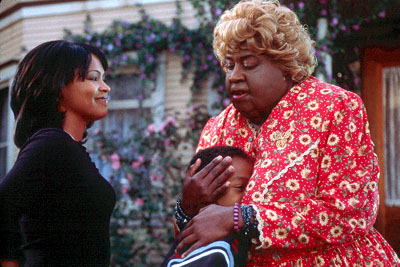 Jascha Washington Sherry (Nia Long) and her son Trent () meet her aunt, a crass Southern granny known as Big Momma (Martin Lawrence) in 20th Century Fox's Big Momma's House - 2000