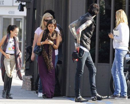 Tish Cyrus - Brenda Song spent the afternoon with her boyfriend, Trace Cyrus, and his family yesterday, September 25, in Los Angeles