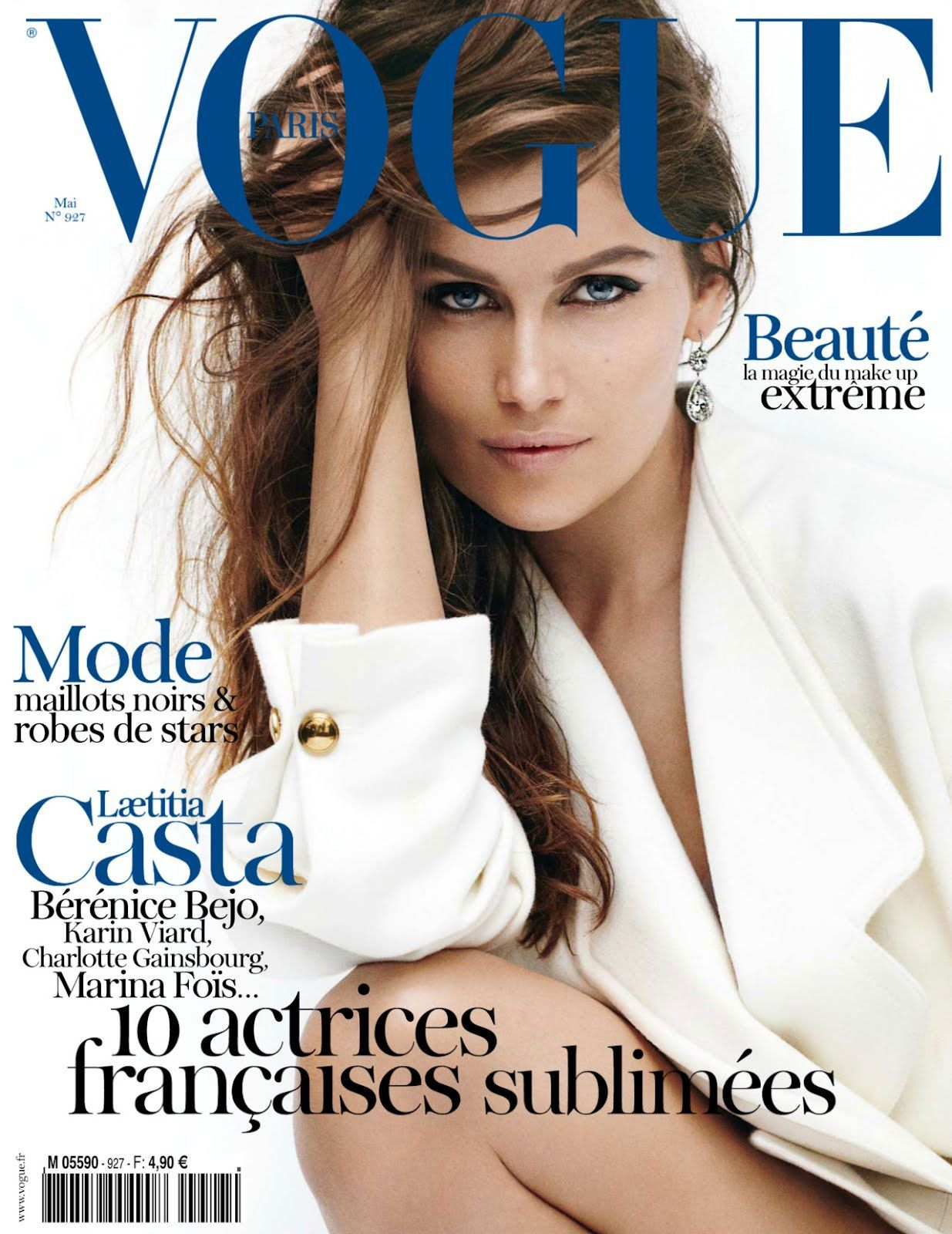 Laetitia Casta - Vogue Magazine Cover [France] (May 2012)