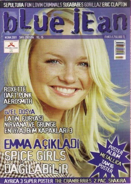 Emma Bunton - blue jean Magazine Cover [Turkey] (April 2001)