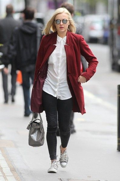 Fearne Cotton: work at the studios of BBC Radio 1