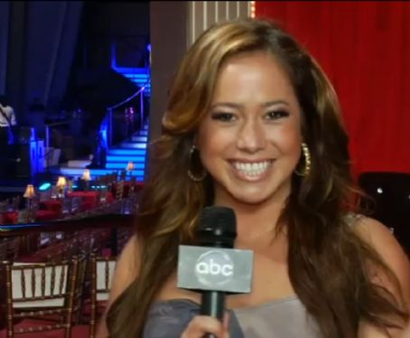 Host Sabrina Bryan Backstage DWTS Season 11