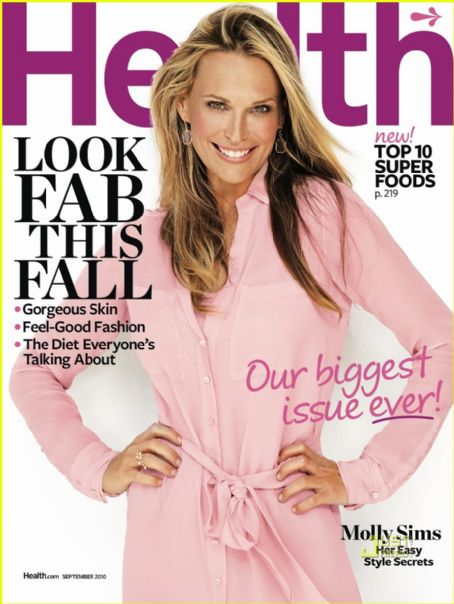 Molly Sims - Health Magazine [United States] (September 2010)