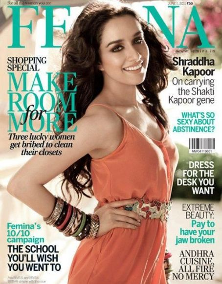 Shraddha Kapoor  - Femina Magazine Pictorial [India] (June 2011)
