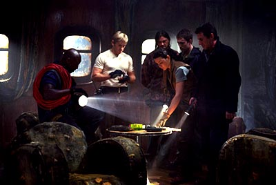 Ron Eldard Isaiah Washington, , Karl Urban, Desmond Harrington, Julianna Margulies and Gabriel Byrne in Warner Brothers' Ghost Ship - 2002