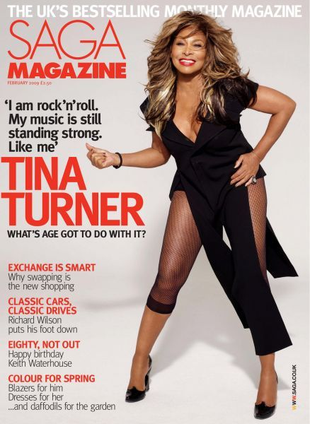 Tina Turner - SAGA Magazine [United Kingdom] (February 2009)
