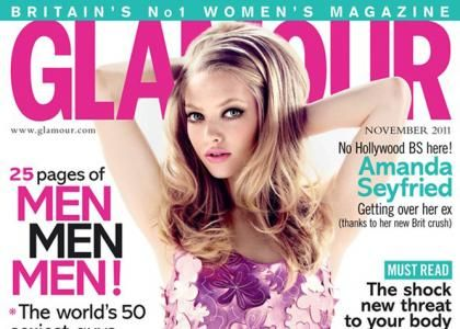 Amanda Seyfried Covers Glamour UK November 2011