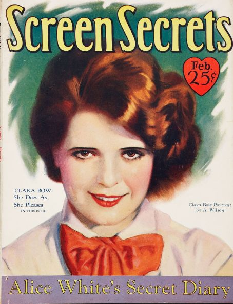 Clara Bow - Screen Secrets Magazine [United States] (February 1929)