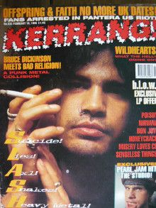 Slash - Kerrang Magazine Cover [United Kingdom] (18 February 1995)
