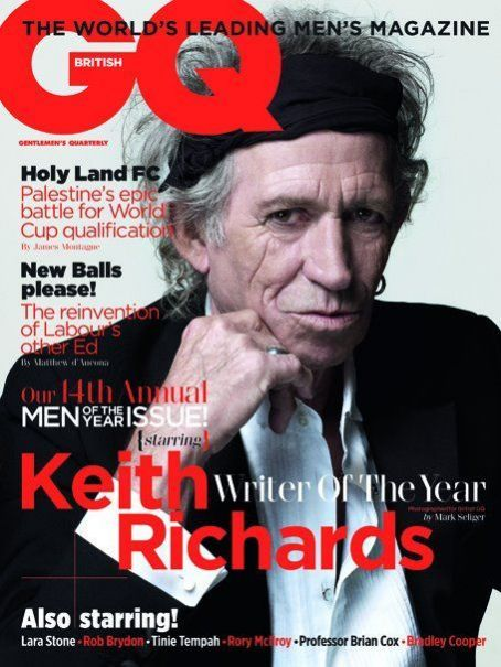 Keith Richards - GQ Magazine Cover [United Kingdom] (4 October 2011)