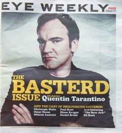 Quentin Tarantino - Eye Weekly Magazine Cover [Canada] (January 2007)